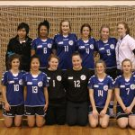 Back row: Phil Leung (Assistant Coach), -, Tayler Darlington, Olivia Mowat, Roxanne Forward, Jessica Fearnside (Coach). Front row: Marissa Mentis, Anne Duong, Alana Thomas, Kate Nolan, -, Laura Ridley. (Photo: Handball ACT)
