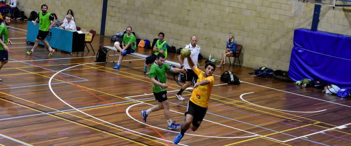 Sydney Uni Running a quick fast break against Harbourside